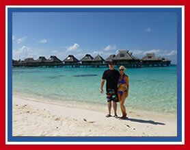 Gary and Trish in Bora Bora