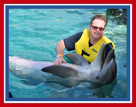 Gary Swimming with Dolphins