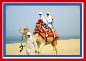 Gary and Trish Camel Riding
