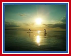 Sunset Paddle Board Maui